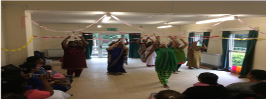 TCC's folk dance class participants performing during Refugee Week 2017 celebrations in Northolt