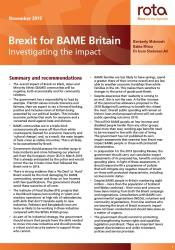 Brexit for BAME Britain: Investigating the impack