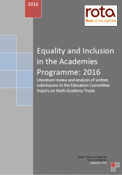 ROTA (September 2016) Equality and Inclusion in the Academies Programme cover
