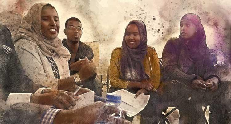 Young Somali people