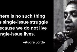 Quote by and pic of Audre Lorde