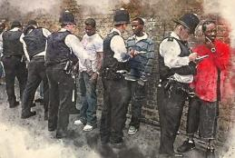 Black men being stopped by police